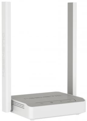Беспроводной маршрутизатор Keenetic Start KN-1110 802.11bgn 300Mbps 2.4 ГГц 3xLAN серый белый