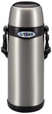 Термос Tiger MBI-A080 Clear Stainless серебристый с черной горловиной