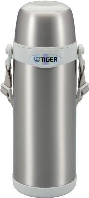 все цены на Термос Tiger MBI-A080 Clear Stainless серебристый с белой горловиной онлайн