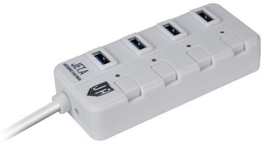 Концентратор USB 3.0 Jet.A JA-UH35 4 х USB 3.0 белый