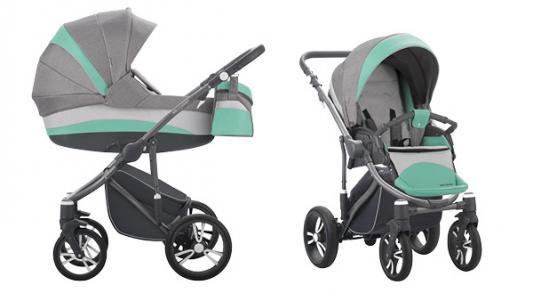 Коляска 2-в-1 Bebetto Murano Colours (шасси матовый графит/c01) универсальная коляска bebetto murano 2016 09м grey light green