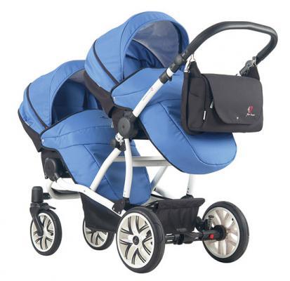 Прогулочная коляска  для двоих детей Bebetto 42 Sport (белое шасси/ul149)