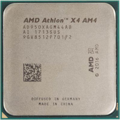 Процессор AMD Athlon X4 950 AD950XAGM44AB Socket AM4 OEM процессор amd athlon ii x4 7700k oem