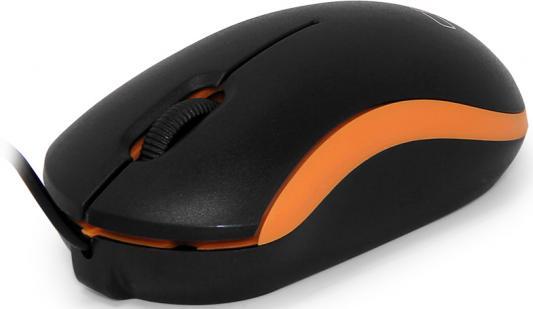 Мышь проводная CBR CM-112 чёрный оранжевый USB мышь проводная cbr cm 301 оранжевый чёрный usb