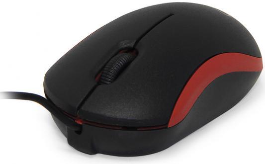 Мышь проводная CBR CM-112 черно-красная USB