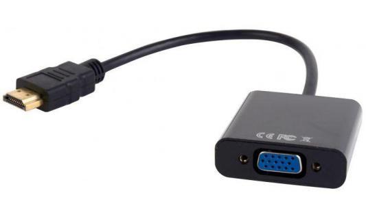 Фото - Переходник HDMI-VGA Gembird A-HDMI-VGA-03 аксессуар mobiledata hdmi 4k v 2 0 плоский 1 8m hdmi 2 0 fn 1 8