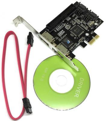 Контроллер PCI-E SATA2 2port + eSata 2port+IDE RAID JMB363 PCIE005 Espada 43063 OEM контроллер raid intel rs3uc080 pci e x8 12gb sas sata