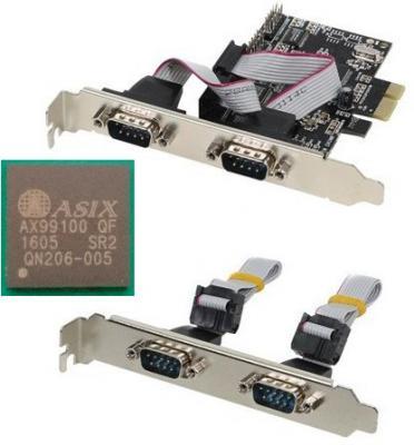 Контроллер Orient XWT-PE4SV1 PCI-E - COM 4-port ASIX AX99100 30470