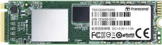 Твердотельный накопитель SSD M.2 512Gb Transcend MTE850 Read 2500Mb/s Write 1100mb/s PCI-E TS512GMTE850