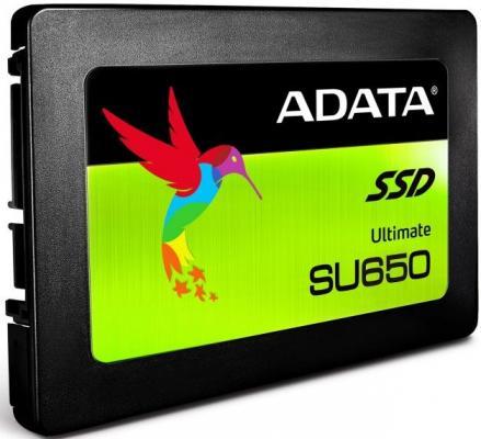 Твердотельный накопитель SSD 2.5 240GB A-Data SU650 Read 520Mb/s Write 450Mb/s SATAIII ASU650SS-240GT-C накопитель ssd a data adata ultimate su800 512gb asu800ss 512gt c