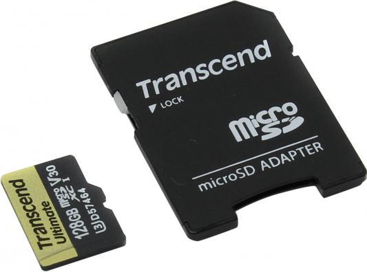 Карта памяти Micro SDXC 128Gb Class 10 Transcend TS128GUSDU3M карта памяти sdxc 128gb class 10 transcend ts128gsdxc10