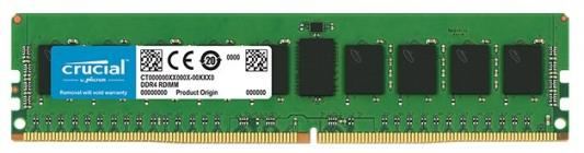 Оперативная память 8Gb (1x8Gb) PC4-21300 2666MHz DDR4 DIMM ECC Registered CL19 Crucial CT8G4RFD8266 оперативная память 8gb 1x8gb pc4 21300 2666mhz ddr4 dimm ecc registered cl19 hp 815097 b21