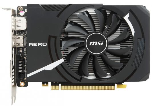 Видеокарта 2048Mb MSI GeForce GTX 1050 PCI-E 128bit GDDR5 DVI HDMI DP HDCP GTX 1050 AERO ITX 2G OCV1 Retail
