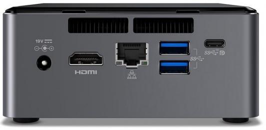 Неттоп Intel NUC Intel Core i5-7300U Intel HD Graphics 620 Без ОС серый BLKNUC7I5DNK2E