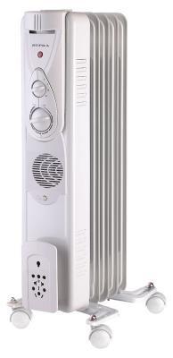 Масляный радиатор Supra ORS-05-F1 1000 Вт термостат колеса для перемещения вентилятор белый