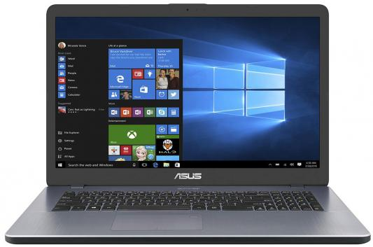 Ноутбук ASUS ivoBook 17 X705UV-GC227 17.3 1920x1080 Intel Core i3-6006U 90NB0EW2-M02470 ноутбук asus x756uv 17 3 intel core i3 6100u 2 3ghz 4gb 500gb hdd 90nb0c71 m00810