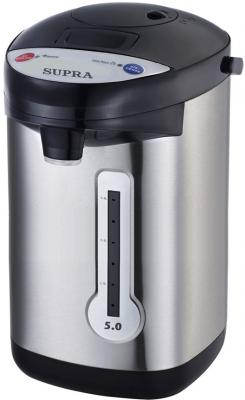 Термопот Supra TPS-3013 900 Вт серебристый чёрный 5 л металл/пластик термопот orion тп 05 5л 800 вт серебристый чёрный 5 л металл пластик