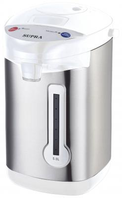 Термопот Supra TPS-3013 900 Вт серебристый белый 5 л нержавеющая сталь термопот supra tps 3013 900 вт серебристый чёрный 5 л металл пластик