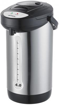 Термопот Supra TPS-3012 800 Вт серебристый чёрный 4 л металл/пластик термопот supra tps 3002 760 вт 3 8 л металл серебристый