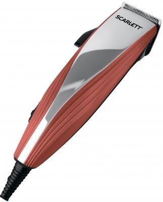 Машинка для стрижки волос Scarlett SC-HC63C20 коричневый серебристый машинка для стрижки волос scarlett sc hc63c07