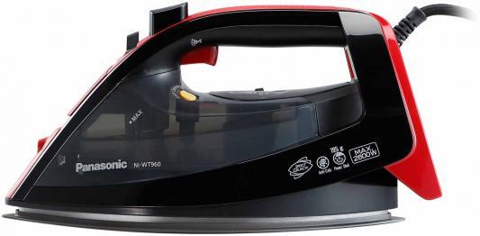 лучшая цена Утюг Panasonic NI-WT960RTW 2600Вт чёрный красный