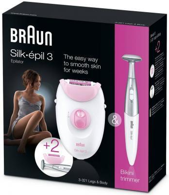 Эпилятор Braun Silk-epil 3 3-321 белый розовый от 123.ru