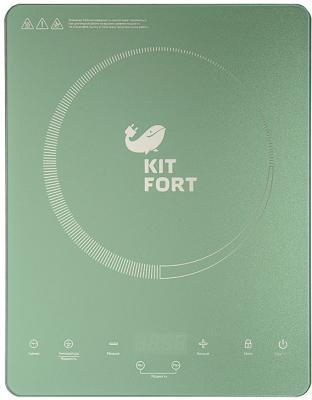 Индукционная электроплитка KITFORT KT-110-3 бирюзовый