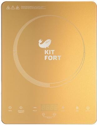 Индукционная электроплитка KITFORT КТ-110-1 золотистый