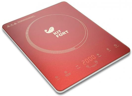 Индукционная электроплитка KITFORT KT-110-4 красный