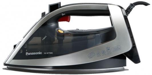 Утюг Panasonic NI-WT980LTW 2800Вт серебристый чёрный утюг panasonic ni wt 980 ltw серебристый серый