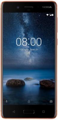 Смартфон NOKIA 8 медный 5.3 64 Гб LTE Wi-Fi GPS 3G 4G 11NB1M01A08 смартфон asus zenfone live zb501kl золотистый 5 32 гб lte wi fi gps 3g 90ak0072 m00140