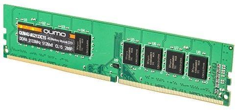 Оперативная память 8Gb PC4-19200 2400MHz DDR4 DIMM QUMO QUM4U-8G2400CC16