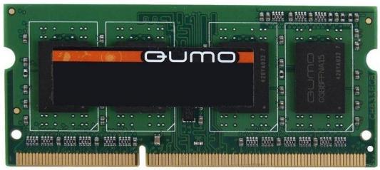 Оперативная память для ноутбуков SO-DDR3 4Gb PC12800 1600MHz QUMO QUM3S-4G1600K11L оперативная память для ноутбуков so ddr3 4gb pc12800 1600mhz amd r534g1601s1s uo oem