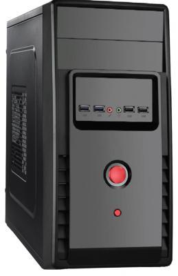 Корпус microATX Exegate BA-119U 500 Вт чёрный EX265174RUS корпус microatx exegate mi 205l 300 вт чёрный серебристый ex249478rus