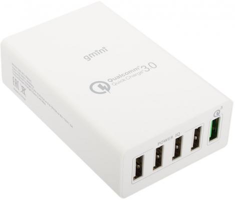 Сетевое зарядное устройство Gmini GM-WC-005QC 5 х USB 9.4А белый
