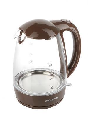 Чайник электрический Polaris PWK 1768CGL 2200 Вт шоколад 1.7 л стекло 100