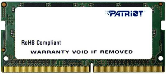 Оперативная память для ноутбуков SO-DDR4 4Gb PC4-17000 2133MHz DDR4 DIMM Patriot PSD44G213382S оперативная память 4gb pc4 17000 2133mhz ddr4 dimm patriot psd44g213381