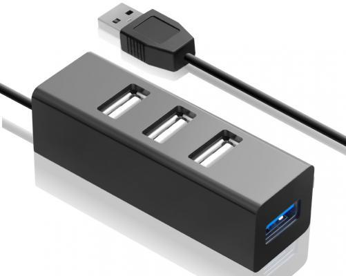 Концентратор USB 3.0 GINZZU GR-339UB 1 х USB 3.0 3 x USB 2.0 черный концентратор usb 3 0 ginzzu gr 380uab 4 х usb 3 0 6 x usb 2 0 черный