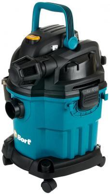 Промышленный пылесос BORT BSS-1518-Pro сухая влажная уборка синий чёрный