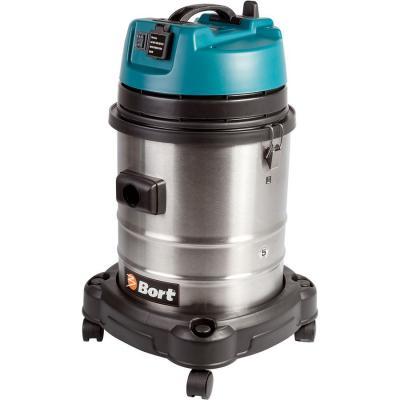 Промышленный пылесос BORT BSS-1440-Pro сухая влажная уборка серый промышленный пылесос bort bss 1415 w влажная сухая уборка чёрный синий
