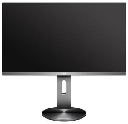 МОНИТОР 27 AOC Q2790PQU Silver-Black с поворотом экрана (IPS, LED, 2560x1440, 4 ms, 178°/178°, 350 cd/m, 20M:1, +HDMI, монитор aoc i2276vw 21 5 ips black