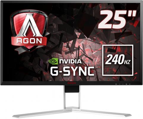 МОНИТОР 25 AOC AGON AG251FG Black-Red (LED, 1920x10800, 240Hz, 1 ms, 170°/160°, 400 cd/m, 50M:1, +HDMI, +DisplayPort) 1more super bass headphones black and red