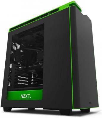 Корпус ATX NZXT H440 Без БП чёрный зелёный CA-H442W-M9
