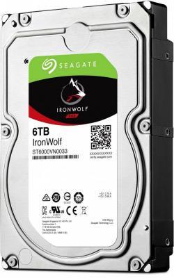 Жесткий диск 3.5 6 Tb 7200rpm 256Mb cache Seagate Ironwolf SATAIII ST6000VN0033 жесткий диск 3 5 3 tb 7200rpm 128mb cache seagate sataiii st3000nm0005