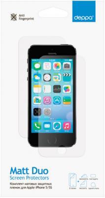 Защитная плёнка матовая Deppa 61229 для iPhone 5S iPhone 5 iPhone SE 2шт
