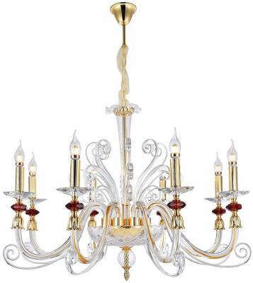 Подвесная люстра Crystal Lux Catarina SP8 Gold/Transparent-Cognac подвесная люстра crystal lux hollywood sp8 gold