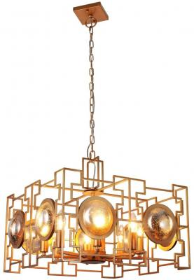 Подвесная люстра Crystal Lux Cuento SP8 Gold подвесная люстра crystal lux hollywood sp8 gold