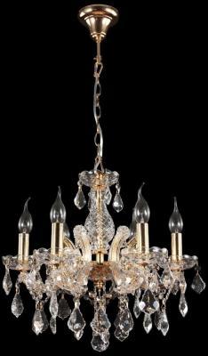 Подвесная люстра Crystal Lux Ines SP6 Gold/Transparent подвесная люстра crystal lux romeo sp10 gold d600