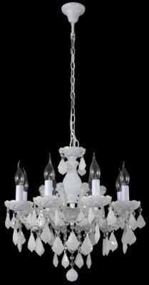 Подвесная люстра Crystal Lux Ines SP8 White люстра crystal lux fontain sp8
