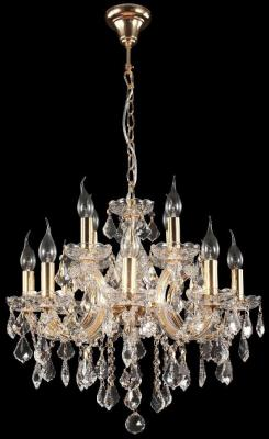 купить Подвесная люстра Crystal Lux Ines SP8+4 Gold/Transparent по цене 25600 рублей